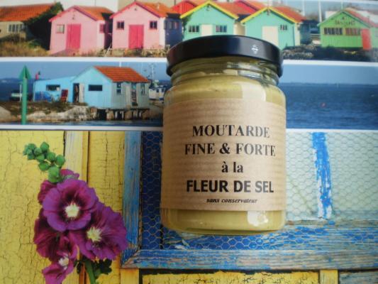 moutarde fine et forte à la fleur de sel