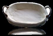 Panier en osier & tissu