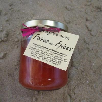 confiture extra poires aux épices.