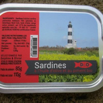 SARDINES à l huile d olive et au piment bio