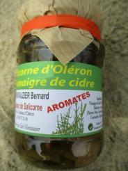 SALICORNE D OLERON AU VINAIGRE DE CIDRE , AROMATES