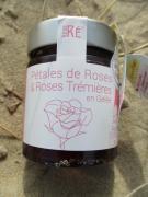 PETALES DE ROSES ET ROSE TREMIERES EN GELEES.