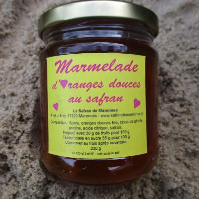 MARMELADE D ORANGE AU SAFRAN