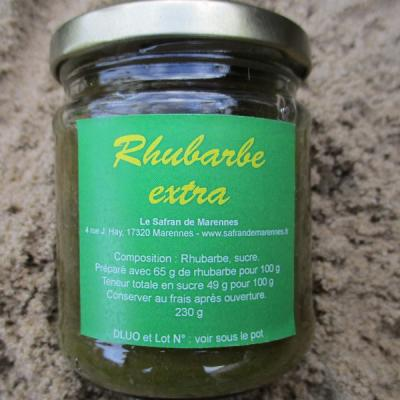 confiture de rhubarbe extra