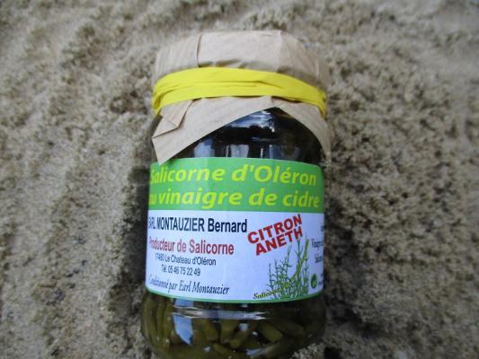 SALICORNE D OLERON AU VINAIGRE DE CIDRE , CITRON ANETH.