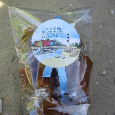 Caramels au beurre salé et à la fleur de sel de l ile d oléron - 150 grs